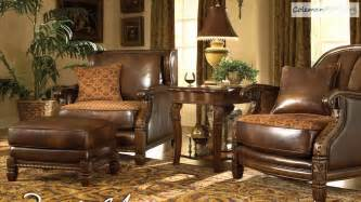 windsor court leather living room collection from aico