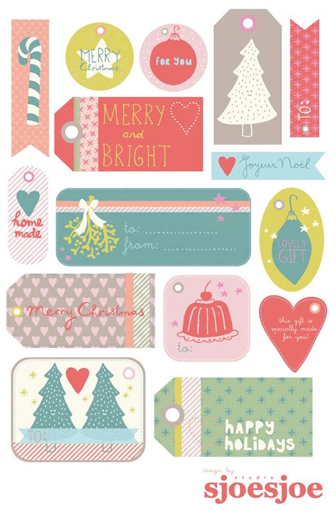 studio sjoesjoe free printable christmas gift tags
