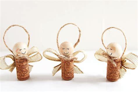 wine cork angels wine cork angel ornaments