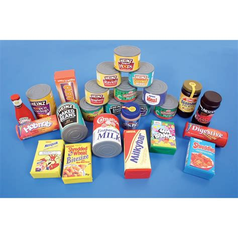 play food play food tins and groceries from early years resources uk
