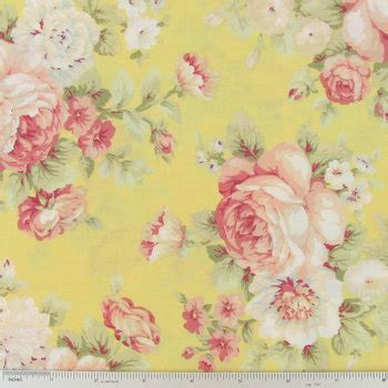 roses on yellow cotton calico fabric hobby lobby 403147