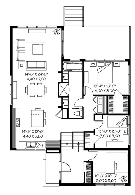 Split Level House Plan by 301 Moved Permanently