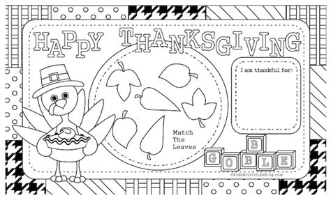 5 best images of coloring pages printable thanksgiving