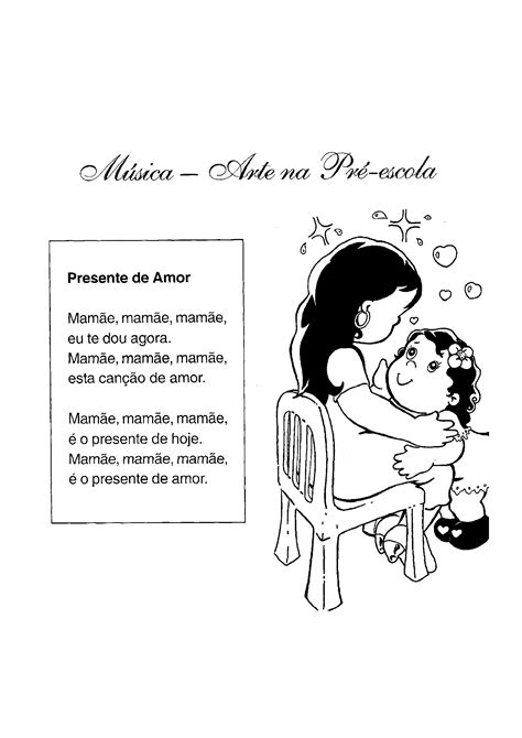 Letras de músicas para o Dia da Mães - Só Atividades