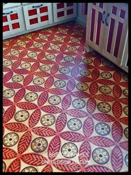floor stencil patterns chalk paint 174 decorative paint by sloan custom modello designs stenciled floor at the
