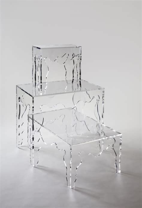rectangle modern clear acrylic console table with unique