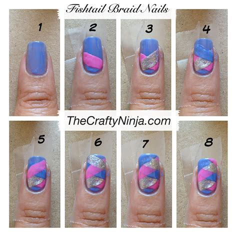 Steps To A Diy Manicure by Fishtail Braid Nails The Crafty