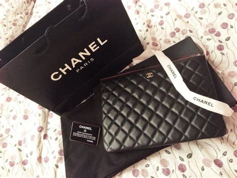 Ocase Lambskin With Box 1 truly vintage authentic chanel o lambskin medium