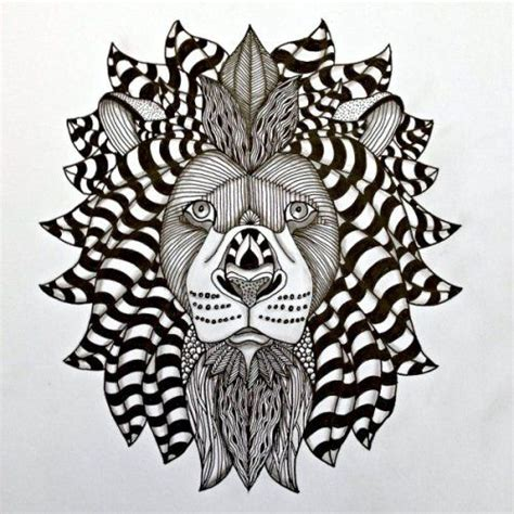 zentangle lion zentangle spiratie pinterest lion template by ben kwok tangled by lucy banta