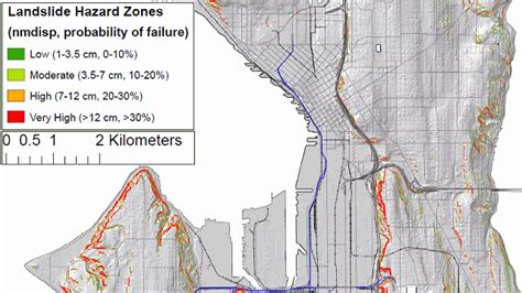 seattle landslide map forecasting the risk of earthquake related landslides