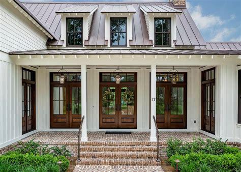 jenkins brick brookstone entry farmhouse with white