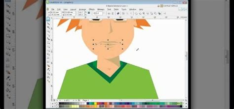 corel draw x4 vector tutorials how to draw a male cartoon vector character in coreldraw