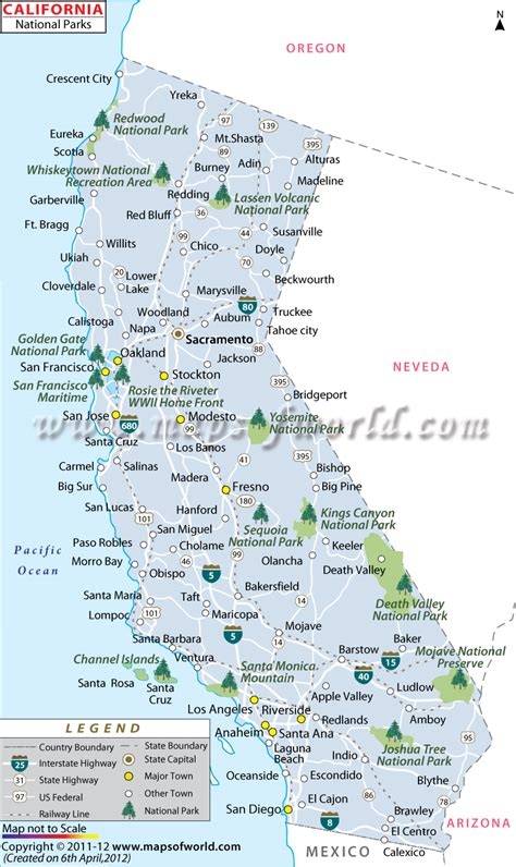 map of national parks usa california state parks map world map 07