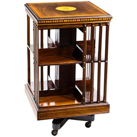 rotating bookshelves antique edwardian revolving bookcase circa 1900 at 1stdibs