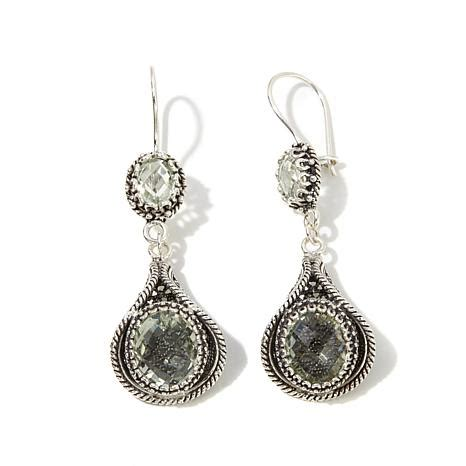 Ottoman Silver Jewellery Ottoman Silver Jewelry Collection 9 30ctw Prasiolite Filigree Drop Earrings 8229836 Hsn