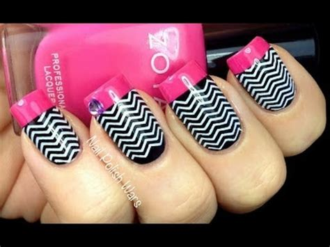 nail art konad tutorial chevron nails tutorial konad sting easy black white