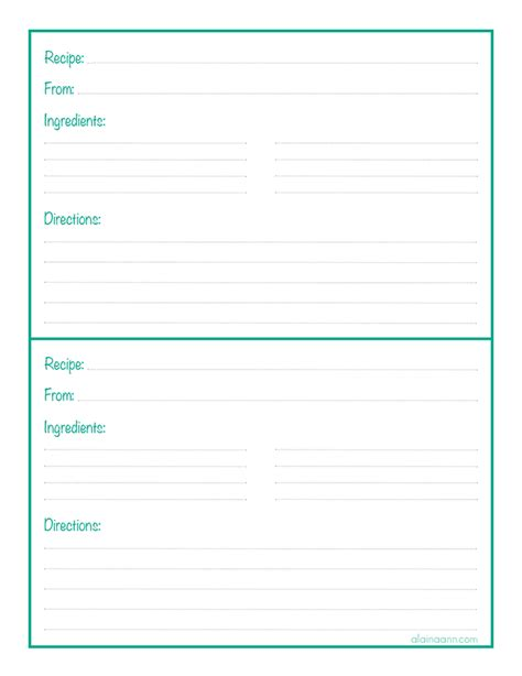 free recipe page template recipe binder sheet organized home free