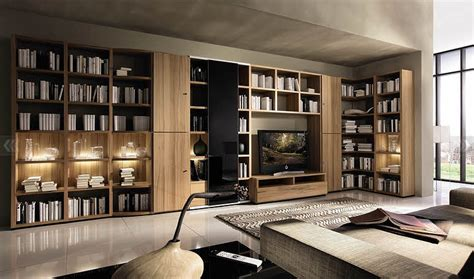 living room with big bookcase design ideas interior