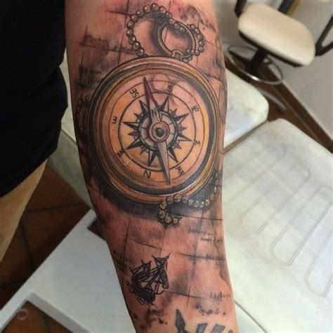 quarter sleeve compass tattoo tattoo tattoos tattooart tattooartist t 228 towierung