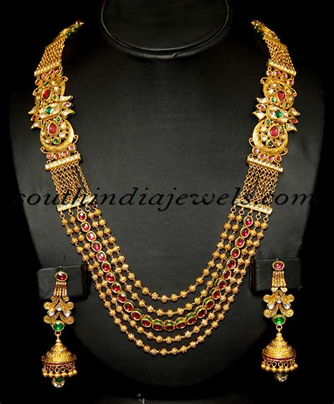 gold jewellery pattern indian antique jewellery royal gold haram set antique