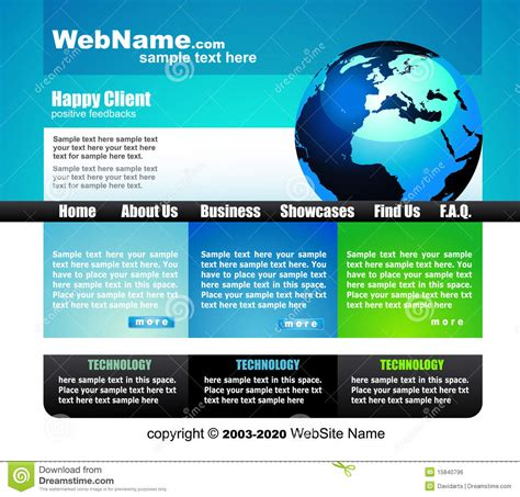 Elegant Business Website Template Stock Vector Image 15840796 Copyright Free Website Templates