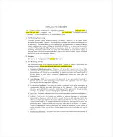 co marketing agreement template marketing agreement template 10 free word excel pdf