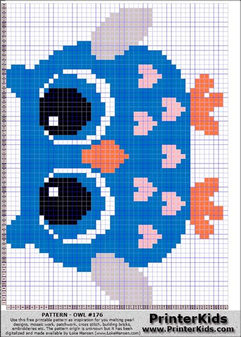 perler bead patterns owl owl perler bead pattern punto crus