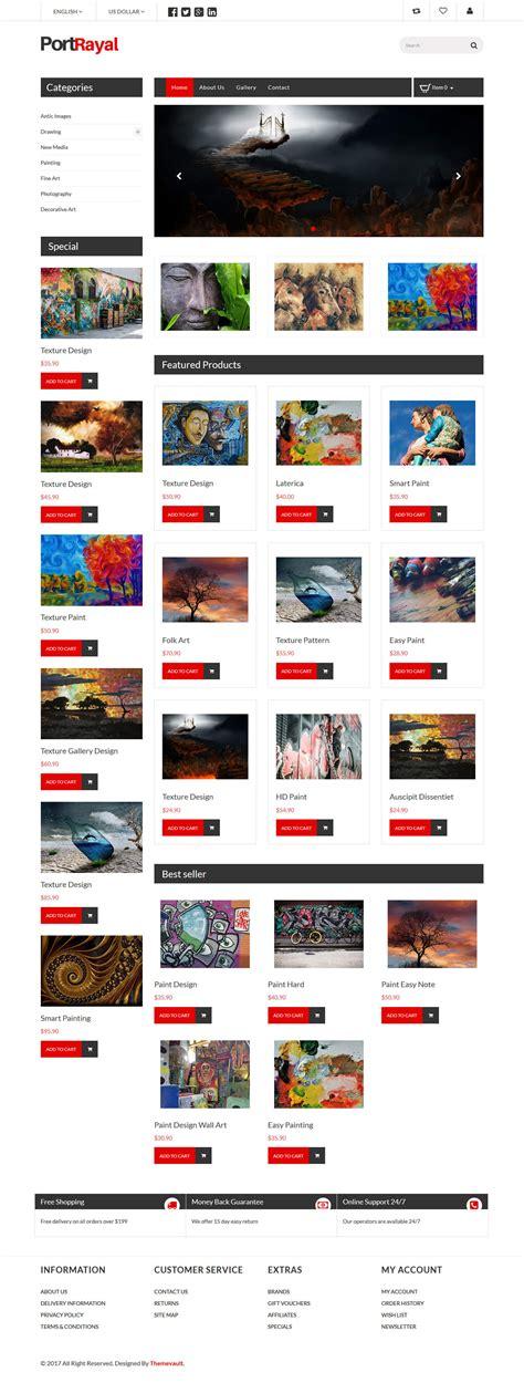 portrayal html5 gallery website template