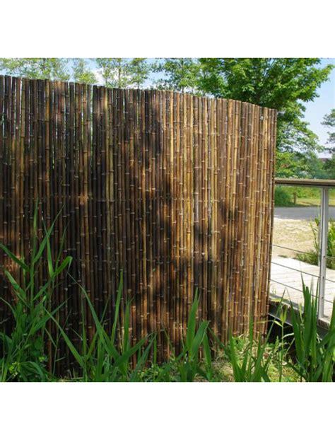 Brise Vue Naturelle Jardin by Cloture Jardin Brise Vue En Bambou Noir Naturel