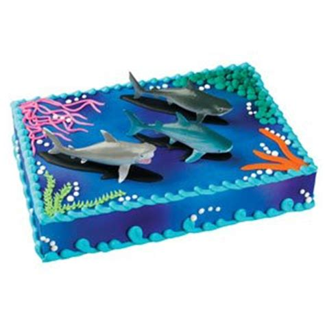 Gourmet Kitchen Designs Bakery Crafts Sharks Cake Topper Amazon Ca Home Amp Kitchen