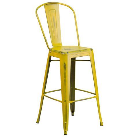 yellow bar stools flash furniture 30 in distressed yellow bar stool