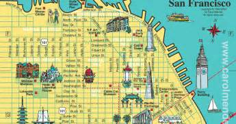 san francisco map of downtown san francisco city tourist maps pictures california map cities town pictures