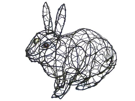 topiary rabbit frame rabbit hopping animal topiary frame