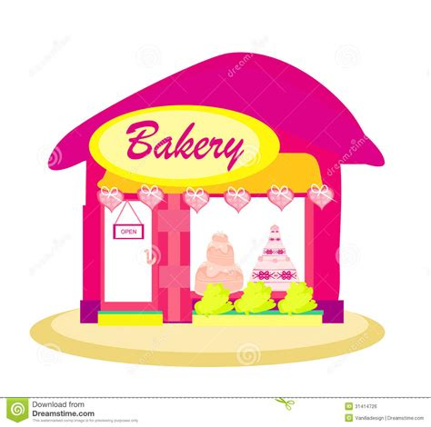 Pink By Z Shop illustration of bakery shop stock vector image 31414726