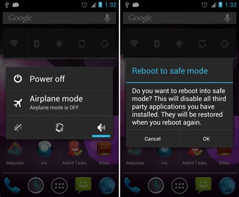 reset android from safe mode dealing with system problems in android safe mode