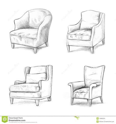 Chair Names by Het Schetsen De Stoel Stock Illustratie Afbeelding