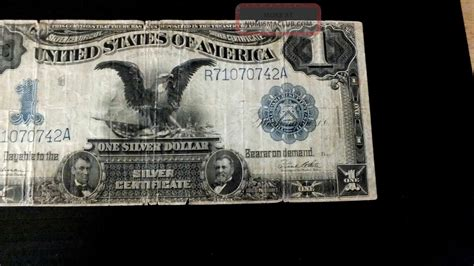 1 dollar black eagle 1899 1 one dollar black eagle silver certificate speelman