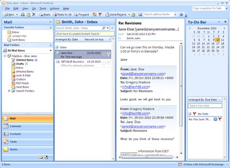 Microsoft Outlook Email Search Microsoft Outlook 2007 Connect To A Shared Email Folder