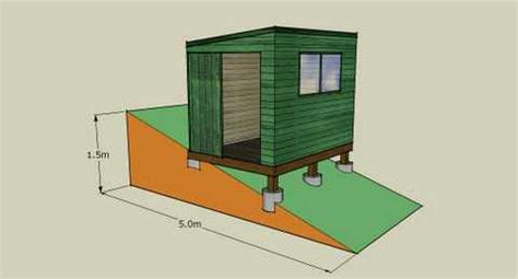 Building A Shed Foundation On Uneven Ground by Shed Plans How To Build A Shed Base On Uneven Ground How