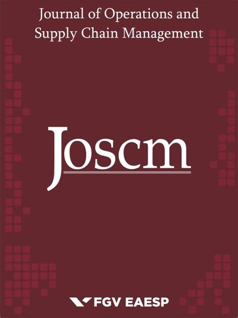 Ms Supply Chain Management Vs Mba by Supply Chain Journal Of Supply Chain Management