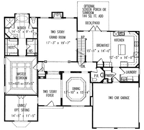 master on main house plans master down with expandable master 15874ge