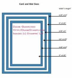 card and mat sizes stin up tutorials
