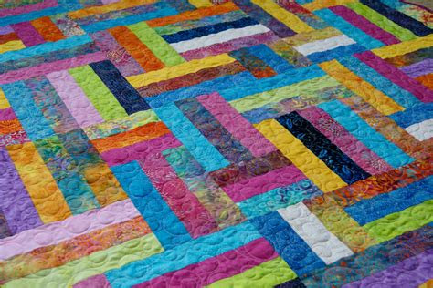 Batik Patchwork Quilt - quilt throw batik rainbow summertime patchwork scrappy