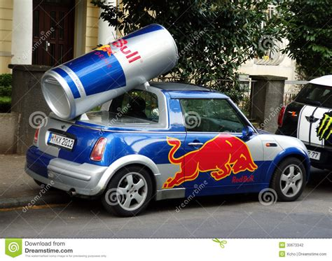 xs energy drink car wrap redbull car editorial photography image 30673342