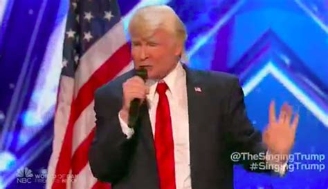 donald trump america got talent the singing trump wows on america s got talent 2017 premiere
