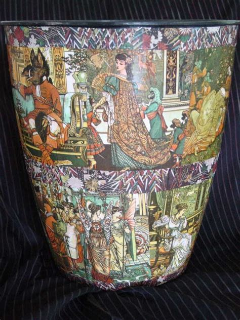 Decoupage Trash Can - 17 best images about trash never looked this