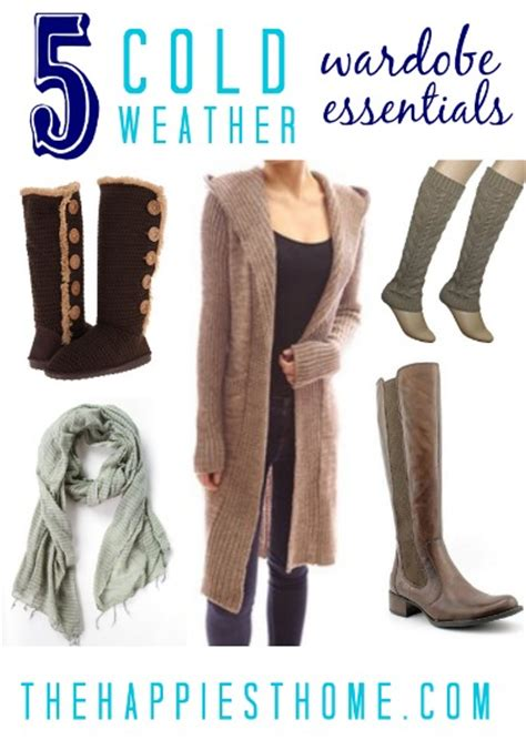 Weather Wardrobe by 5 Must Haves For Cold Weather Dwellers The Happiest Home
