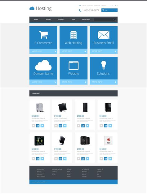 opencart templates responsive hosting responsive opencart template 54797