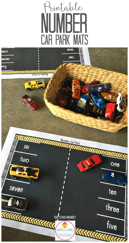 printable number games for early years printable car play mats with numbers nurturestore