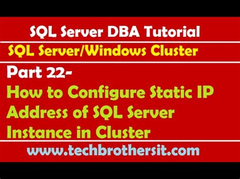 how to configure a static ip address in red hat centos sql server dba tutorial 22 how to configure static ip
